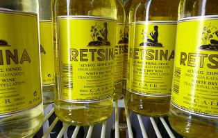 Retsina wine