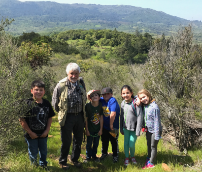 Third graders on Bouverie hike