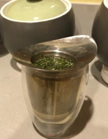 My green tea steeping