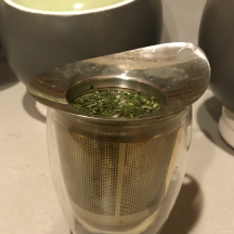 My green tea steeping