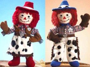Cowgirl Cowboy Raggedys