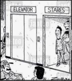Stair pun cartoon from Sara