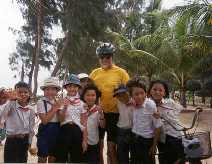 viet bike tour andy with kids