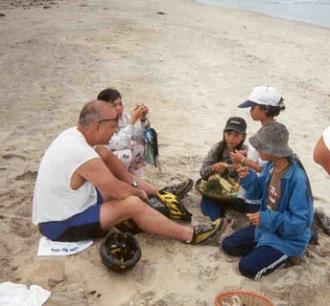 vietnamese kids on beach