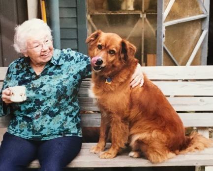 My mom with Elwood