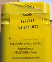 Goodby mustard flour. Your tour is over.