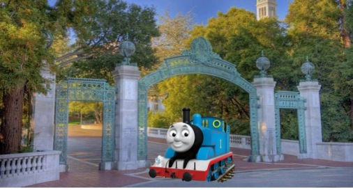 Thomas at Cal Gate