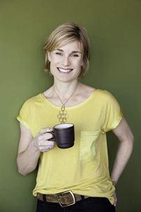 sara with coffee