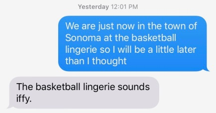Basketball Lingerie Text