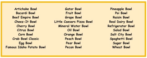 bowl game list graphic