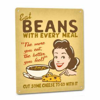 eat beans poster