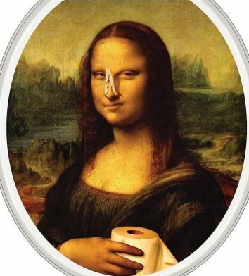 Funny-Mona-Lisa-with-Clothespin-on-Nose---Toilet-Lid-Sticker-Tattoo