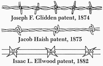 barbed wire patents