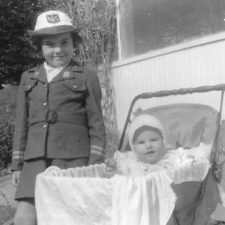 My sister Helen and I circa 1943