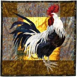 This image has an empty alt attribute; its file name is rooster-textile.jpg